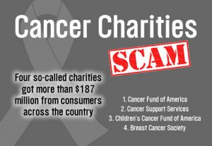 Watch out for cancer charity scams