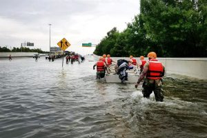 First responders help in rescue efforts