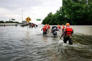 First responders help in rescue efforts
